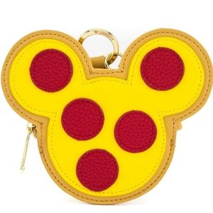 BNWT LOUNGEFLY MICKEY MOUSE PIZZA CHANGE PURSE